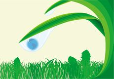 Wather blu di goccia all'interno del pianeta Immagine Stock Libera da Diritti