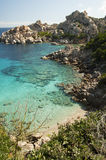 WATHER OF  capo testa BAY SARDINIA. SARDINIA bay of capo testa Stock Photography