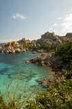 WATHER OF  capo testa BAY SARDINIA. SARDINIA bay of capo testa Stock Photos