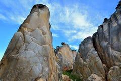 Watherig granitlandforms med presenterad form Royaltyfri Foto