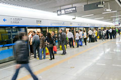 Wating el metro Imagen de archivo libre de regalías