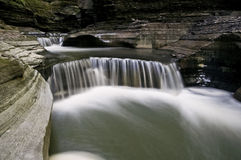 Watkins Glen. State Park,  NY located in the Finger Lakes region is home to many stunning waterfalls. These step waterfalls are just a small example of what it stock photo
