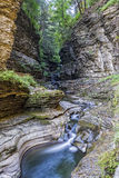 Watkins Glen Gorge In Early Morning ljus Royaltyfri Foto