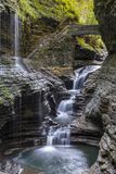 Watkins Glen Gorge. Falls at Watkins Glen gorge - New York Royalty Free Stock Photography