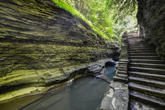 Watkins Glen State Park, New York. Part of the Finger Lakes Region royalty free stock image