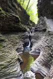 Watkins Glen State Park Stream and waterfall Royalty Free Stock Image