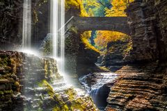 Watkins Glen State Park waterfall Stock Photography