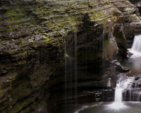 Watkins Glen Waterfall Royalty Free Stock Images