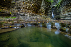 Watkins Glen Waterfall royalty free stock image