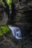 Watkins Glen Waterfalls Stock Afbeeldingen