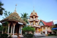 Watluang tempel Nongkhai Arkivbild