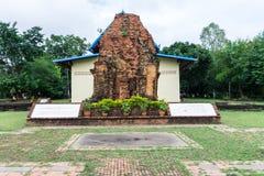 Watphrathai Dum forntida Amphoe Mueang, Sakon Nakhon Royaltyfri Foto