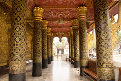 Watpost in Luang Prabang Royalty-vrije Stock Foto