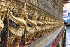 Watprakeaw Thailand. Watprakeaw temple in Thailand art on the wall Royalty Free Stock Photos