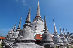 Watpratad. Wat in southern of thailand Royalty Free Stock Photo