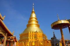 塔watprathatharipunchai 免版税库存图片