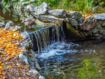 Watrestream during autumn season  in the public Beacon Hill Park Stock Photos