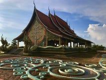 Watsirindhornwararam Ubon Ratchathani: Septiembre de 2017 - el templo del pequeño templo Fotos de archivo