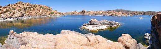 Watson湖,普里斯科特, AZ全景 免版税库存照片