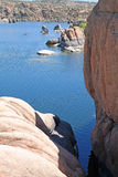 Watson湖,普里斯科特, AZ -划皮船 免版税库存照片