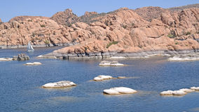 Watson湖,普里斯科特, AZ - Sailboating 库存图片