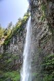 Watson Falls, Oregon. Watson Falls in the  North Umpqua River basin. One of the highest waterfalls in Oregon, Watson Falls plunges 272 feet to its moss-covered Royalty Free Stock Image
