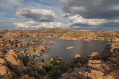 Watson jeziora krajobraz Zdjęcia Stock