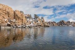 Watson Jeziorny prescott Arizona w zimie Obraz Stock
