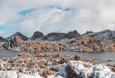 Watson Jeziorny prescott Arizona w zimie Obrazy Royalty Free