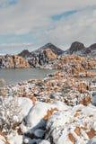 Watson Jeziorny prescott Arizona w zimie Zdjęcia Royalty Free