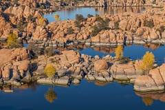 Watson jezioro w spadku Zdjęcia Stock