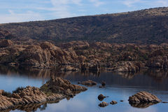 Watson Lake. Blue lake in the rocks Stock Photography