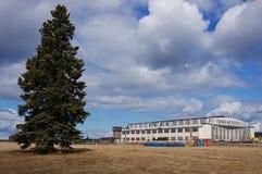Watson Lake, cintre d'aéroport du Yukon, Canada photographie stock libre de droits