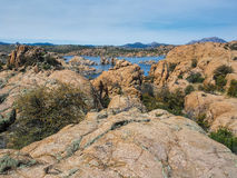 Watson Lake dans les vallons de granit du Prescott en Arizona Photo libre de droits