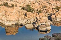 Watson Lake Fall Reflection Stock Image