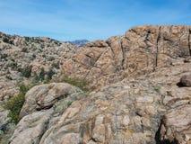 Watson Lake i granitdellsna av prescotten i Arizona Fotografering för Bildbyråer