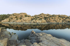 Watson lake morning. Beautiful morning in prescott AZ Stock Photo