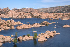 Watson Lake Park Arizona, USA Royaltyfri Bild