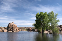 Watson Lake Park Arizona, USA Royaltyfria Foton