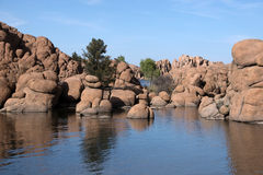Watson Lake Park Arizona, USA Royaltyfri Fotografi