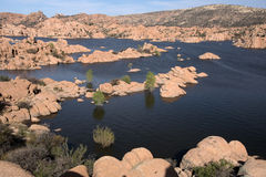 Watson Lake Park Arizona, USA Arkivbild
