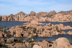 Watson Lake Park Arizona, USA Fotografering för Bildbyråer