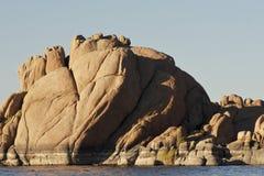 Watson Lake Prescott Arizona. Granite rocks line scenic Watson Lake in Prescott, Arizona Stock Photos