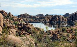 Watson Lake, Prescott, Arizona Stock Afbeeldingen