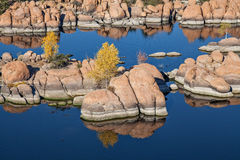 Watson Lake Prescott Arizona in Fall Stock Photos