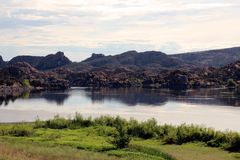 Watson Lake, Prescott, Arizona. Overview of beautiful Watson Lake, Prescott, AZ Arizona Stock Photography