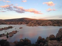 Watson Lake Prescott Arizona Sunset Royalty Free Stock Photos