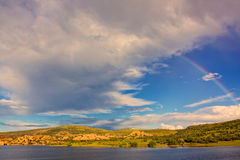 Watson Lake Rainbow Royalty Free Stock Photography