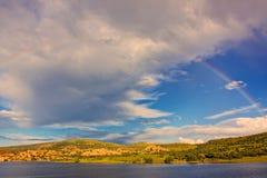 Watson Lake Rainbow Royalty Free Stock Photography