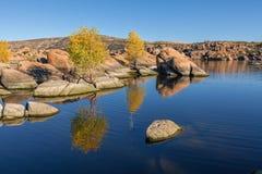 Watson Lake Reflection in Autumn Royalty Free Stock Image